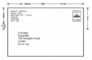 Royal Mail Mailmark Large Letter Return Address